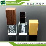 Кристаллический память 16GB 32GB USB логоса вспышки 3D