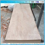 el panel de la madera contrachapada de la piel de la puerta de 3X6' 3X7' con la chapa de Okume