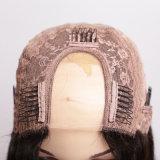 La parrucca francese della treccia candeggiata annoda il colore medio del Brown U della parte del merletto della parrucca anteriore dei capelli umani di colore puro dei capelli del merletto