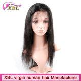 El cabello humano 100% Natural virgen pelo peruano peluca de encaje completo