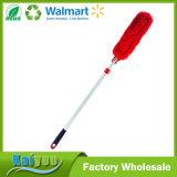 Ángulos múltiples rojos que sacan el polvo del plumero extensible de Microfiber de la flexibilidad