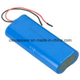 7.4V 6600mAh 26650pl Lithium-Polymer-Plastik Batterie von zylinderförmigem