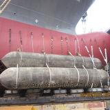 Navio marinho da doca de flutuação que lanç bolsas a ar marinhas