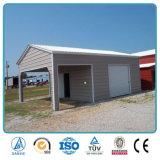 Il veicolo per il trasporto del metallo superiore di vendita si è liberato del garage di stile del Eave inscatolato tetto prefabbricato del metallo