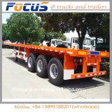 CCC ISO 3-ejes contenedor de superficie plana de 40 pies camión remolque semi