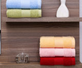 Атласная белая плакатная бумага цвета границы хлопка Dobby отель полотенце