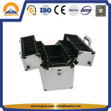 Hand Silver Aluminum Toolboxes mit Trays (HT-2301)