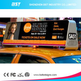 Melhor preço P5mm Outdoor Double Side Full Color Taxi Top LED Screen