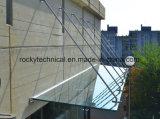 Pabellón de cristal del toldo de la entrada