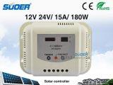 Suoer 24V 15um sistema inteligente de Painel Solar PWM Controlador de Carga (ST-G2415)
