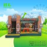 Het grappige Kasteel van Combo Bouncy van de Aap Opblaasbare voor Jonge geitjes