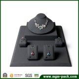 Étalage en cuir de bijou d'unité centrale de noir en gros