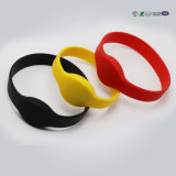Изготовленный на заказ напечатанный логосом навальный Wristband силикона
