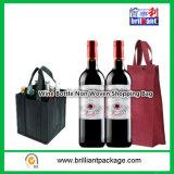 環境保護はリサイクルされたワイン・ボトルの非編まれたショッピング・バッグである場合もある