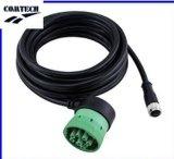 M12 5pin Sensor Military Cableの自動車J1939 J1708 9 Pin