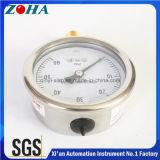高品質の内部Ssの箱の黄銅が付いている小さい圧力計