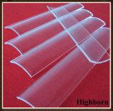 Cancelar a folha fundida da placa de vidro de quartzo do arco para a cura UV