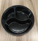 3 Teile PlastikwegwerfObentos Mikrowellen-Nahrungsmittelbehälter-mit Deckel