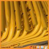 Barreiras de controlo de multidões amarela personalizada