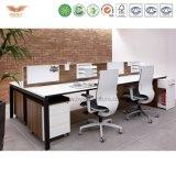 Het recentste Populaire Werkstation Van uitstekende kwaliteit van het Bureau van 4 Persoon van het Kantoormeubilair