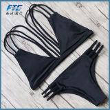 Neue reizvolle Bikini-Frauen-Badebekleidung drücken Badeanzughalter-Oberseite-Biquini aufgefülltes Badeanzug-Verband-brasilianisches Bikini-Set hoch