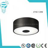 Luz de techo de cristal redondo LED Residencial iluminación de la sala sencilla