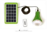 Casa Solar de kits de iluminación portátil con 2* 3W Lámpara de LED
