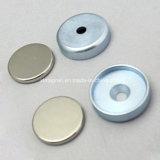 De Magneet van het Neodymium van het nikkel in de Plaat van het Metaal van het Zink met Verzonken