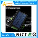 Lumière extérieure solaire fixée au mur imperméable à l'eau de jardin d'IP65 DEL la cour