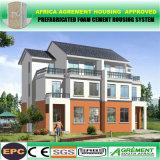 Chalet prefabricado prefabricado concreto de lujo comprable de la estructura de acero de la luz de la casa