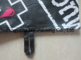 Циновка пляжа пластмассы изготовленный на заказ печатание напольная прокатанная BOPP сплетенная PP