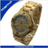 Venda por atacado de madeira do relógio da fábrica do relógio do relógio popular