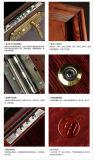 Porte en acier de sécurité d'entrée rouge-brun de qualité