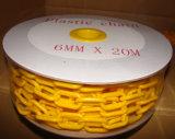 Sécurité routière 6mm chaîne en plastique jaune et noire de 8mm