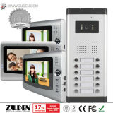 Mehrfamilienvideotür-Telefon mit wasserdichtem u. Nachtsicht