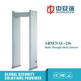Pantalla del LCD detector de metales secreto del marco de puerta de 6/12/18 reuniones del convertido inteligente de las zonas