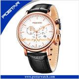 Reloj de múltiples funciones del regalo del hombre de negocios del acero inoxidable de Iprg