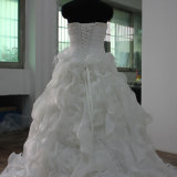 De elegante Strapless Bruids Kleding van het Huwelijk van de Toga Organze