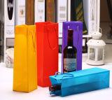 Sac clair de vin de PVC de coutume standard de portée avec la tirette
