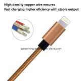 Nylon Braided зарядный кабель USB Pin кабеля 8 молнии с алюминием для iPhone