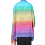 Fashion Pashmina Rainbow Soft女性覆いのスカーフ