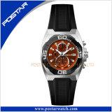Psd-2344 Fashion montre-bracelet Quartz classique avec bracelet en cuir véritable