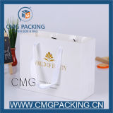 Elegantes White Paper Garment Bag mit Gold Logo Hot Stamping