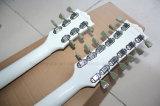 Guitare électrique blanche des chaînes de caractères Strings+6 musique/12 2-Neck de Hanhai