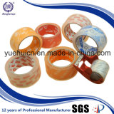 El 100% cubrió la cinta clara estupenda de acrílico del embalaje de la alta calidad BOPP del pegamento