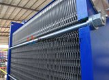Particule/fibre en cristal/échangeur de chaleur large moyen matériel collant de plaque de turbine d'acier inoxydable de circulation