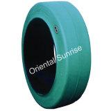 비 포크리프트 단단한 타이어 21X8-9 (21*8-9)를 표시하는 녹색 백색 회색