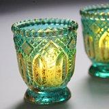 Os titulares de Velas em vidro colorido Tealight para