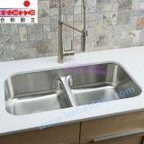 Bassin neuf d'acier inoxydable du modèle 8247, bassin de cuisine, bassin de lavage