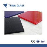 Refoulement peinte du panneau de verre avec bleu vert rouge rose couleur bronze
